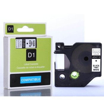 Compatible Dymo Labelmanager 12mm D1 Black on White Dymo Maker 45013 Label Tape Cartridges (Factory Supply) 45013